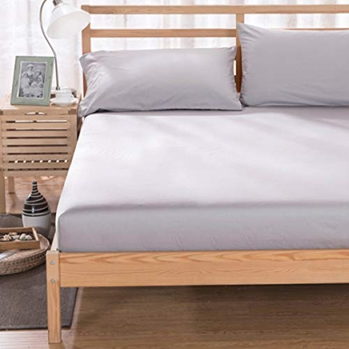 FUOUKU Queen Size Hotel Luxury Bed Sheets Four Corner with Elastic Band Plain Bedding Soft Mattress Cover
