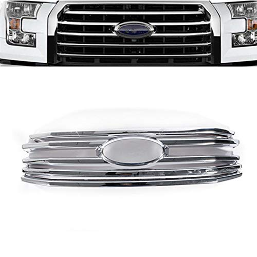 Mesh Front Hood Bumper Grill Grille Cover ABS for Ford F150 XLT 2015-2017 USA ()