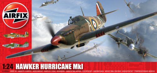 Airfix A14002A Hawker Hurricane Mk1 Model Building Kit, 1:24 Scale