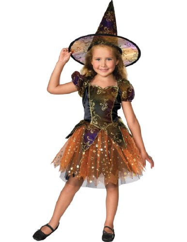Girls Witch Halloween Costume (Let's Pretend Child's Elegant Witch Costume, Small)
