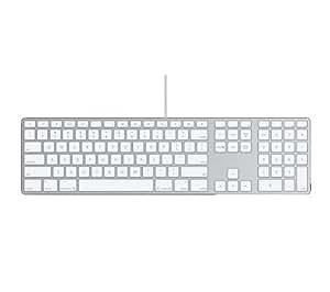 Apple Keyboard, Con cables, USB, Mac OS X v10.4.10 +, Plata, Aluminio (QWERTY) [importado de Reino Unido]