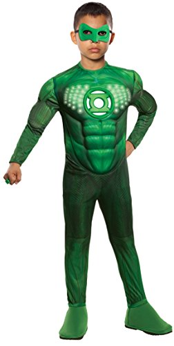 Green Lantern Child's Deluxe Hal Jordan Costume With Light Up Logo - One Color - Large ()