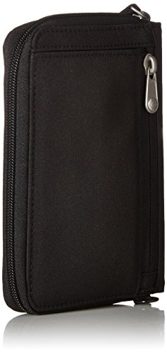 41SCYXB2AIL - Pacsafe RFIDsafe LX150 Anti-Theft RFID Blocking Passport Wallet, Black