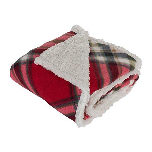 J & M Home Fashions Plaid Fleece Plush Throw Blanket, 50