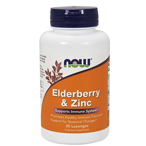 NOW Elderberry Zinc 30 Lozenges