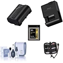 Nikon D500 Accessory Bundle - Consists of ENEL-15 Battery, MH-25A Quick Charger, Lexar 32GB Professional 1400x XQD 2.0 Memory Card, Screen Protector, Cleaning Kit