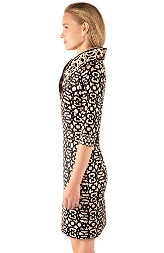 Gio Dress Black Ruffneck Rio Khaki E1FqRq