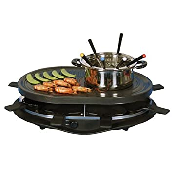 Raclette Fondue Set total chef tcrf08bn raclette grill and fondue set amazon ca