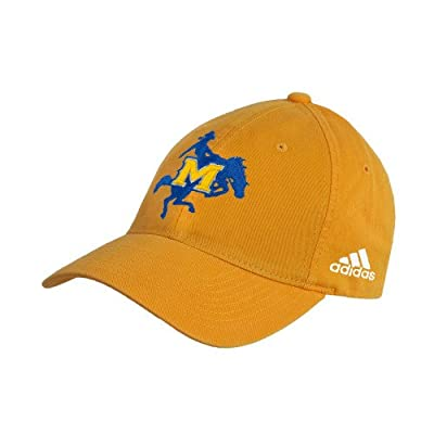 McNeese State Adidas Gold Slouch Unstructured Low Profile Hat 'Primary Mark' by CollegeFanGear