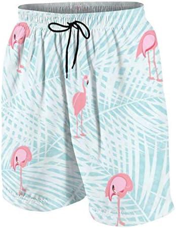 キッズ ビーチパンツ カラフル ピンクのフラミンゴ サーフパンツ 海パン 水着 海水パンツ ショートパンツ サーフトランクス スポーツパンツ ジュニア 半ズボン ファッション 人気 おしゃれ 子供 青少年 ボーイズ 水陸両用
