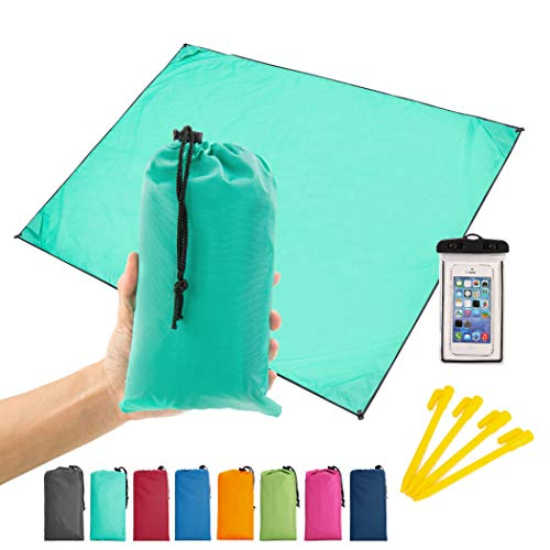 Home Queen Beach Pocket Blanket, Compact Beach Blanket for Camping, Hiking -Waterproof Sand Free Mat 78