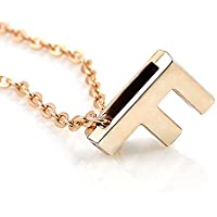 Fashion Women Gold Letter Name Initial Chain Charm Pendant Necklace Jewelry Gift LOVE STORY (F)
