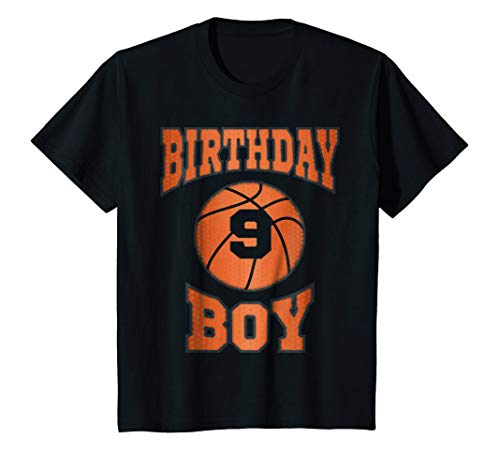 Kids 9th Birthday Shirt Boy | Basketball T-shirt For 9 Year Olds ()