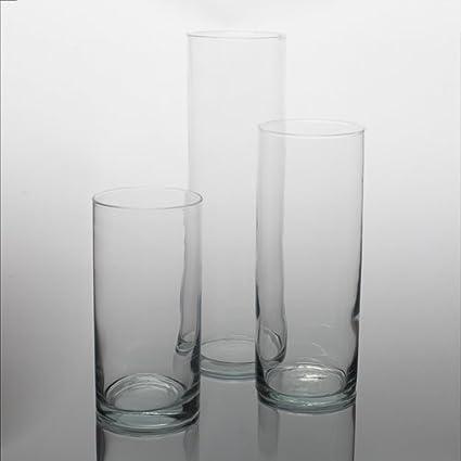 Amazon Eastland Wide Cylinder Vases Set Of 3 3 Sizes Home