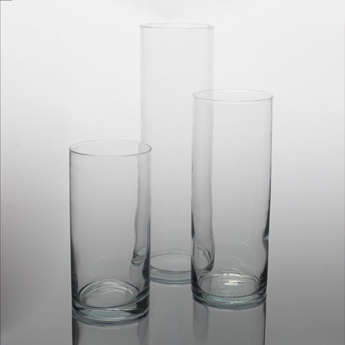 Amazon Eastland Wide Cylinder Vases Set Of 3 3 Sizes Home