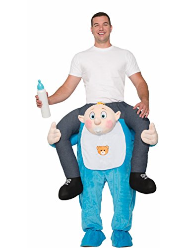 Forum Men's Ride on Baby Deluxe Costume, As Shown, (Baby Carrying Man Halloween Costume)