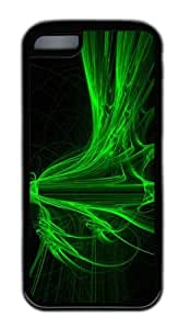 Customized Case Colorful green Light Black for Apple iPhone 5C