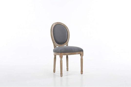 Lot de 8 chaises médaillon Versailles Style Louis XVI Lin
