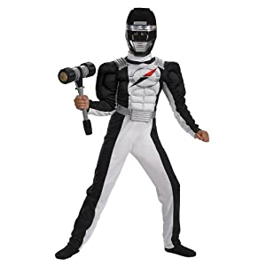 Black Ranger Costume With Muscle Chest Child Medium By Disguise