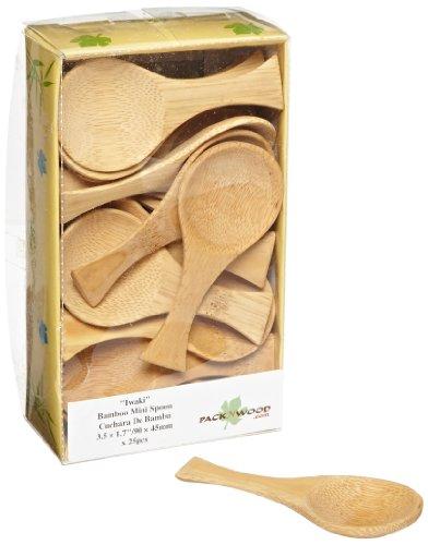 "PackNWood 209BBIWAKI ""Iwaki'' Bamboo Spoon - 0.25 oz - 3.7 x 1.8'' - 500 per case by PacknWood"