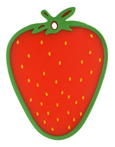 Dexas Cutting/Serving Board, Strawberry Shape (Fruit Cutting Board)
