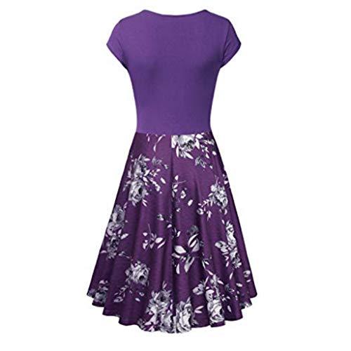 Transer- Vintage 1950s Formal Cocktail Dress Floral Print V Neck Tie Swing Pleated Party Dresses