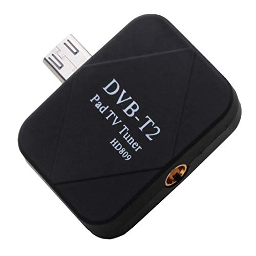 - TV Receiver Micro USB 2.0 Mobile Watch DVB-T2 TV Tuner Stick for Android Phone/Pad, Support Android 4.0.3 Above(Black) (Color : Black)