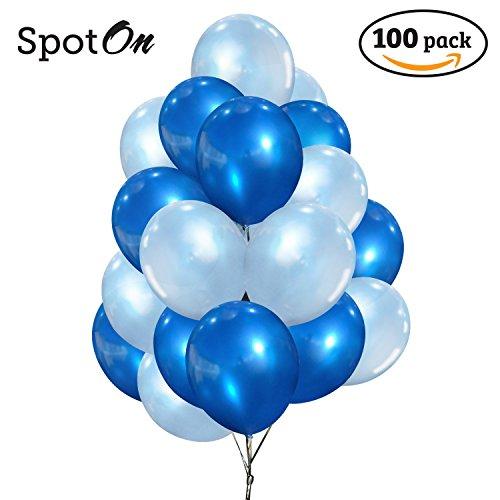 100 light blue balloons - 7