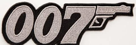 007 James Bond Movie Logo Embroidered Iron on Patch / 3