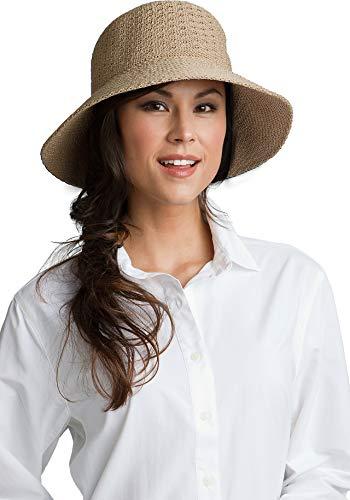 Coolibar UPF 50+ Women's Marina Sun Hat - Sun Protective (One Size- Tan)