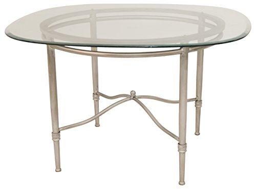 Impacterra Pacifica Dining Table, Rustic Silver/Clear Glass 48