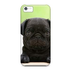 Excellent Design Black Pug Puppy Phone Case For Iphone 5c Premium Tpu Case