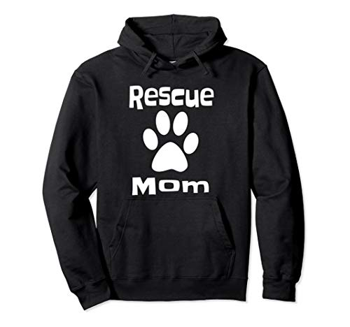 Animal Rescue Mom Hoodie Cat Dog Lover Gift
