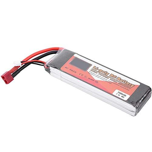 7.4V Batterie LiPo pour Drone, LiPo Batterie Rechargeable 2200mAh 5000mAh 3500mAh 5500mAh 4500mAh avec T-Plug pour Voiture / Avion / Bateau RC (5500mAh 40C)