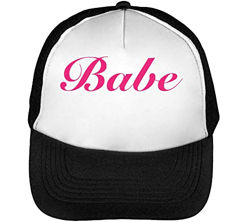 Babe Beisbol Negro Gorras Hipster Fonted Slogan Snapback Blanco Hombre Awxq7gAZSr