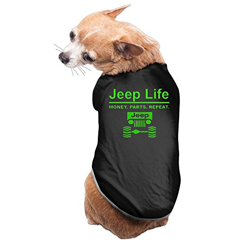 Jeep Life - Money Parts Repeat Dog Costume Puppy Jackets (Crazy Dog Costumes)