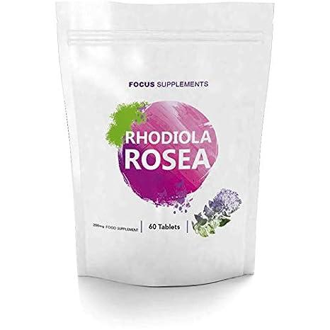 Rhodiola Rosea 200 mg Comprimidos - Fuente de Alta Calidad de Rosavin y Salidrosida | PÉRDIDA