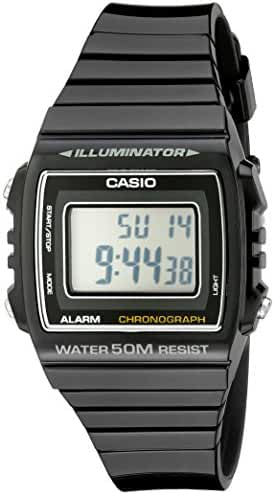 Casio Kids W215H-1A Classic Digital Stop Watch, Black