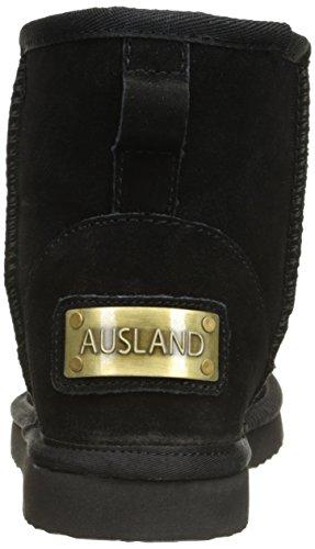 Classic Water Calf Black Boots AUSLAND Mid Resistant Snow Leather Mini 5125 Womens atv5w5UqB