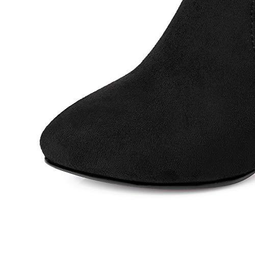 Mns03186 Negro Con Sandalias Cuña Mujer 1to9 6xFfwqRf