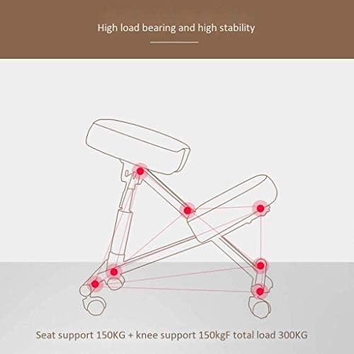 HUXIUPING Genoux Chaise Ergonomique Yoga Chaise de Bureau Accueil Apprentissage Studio Chaise Fauteuil de Bureau Chirurgie Plastique for Lombalgie à Hauteur réglable avec poulie