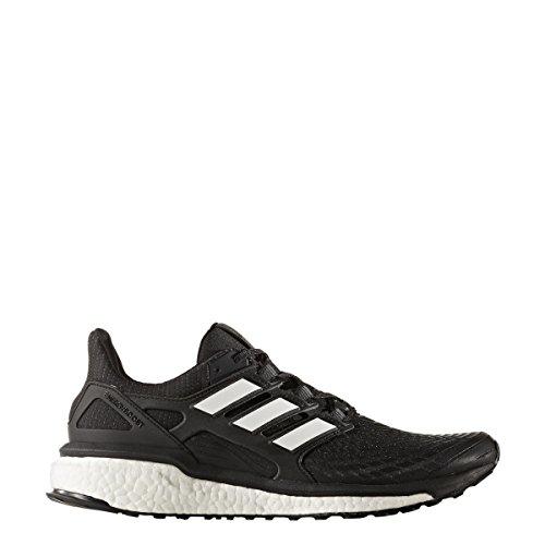 Adidas Energy Boost m - Zapatillas de Running para Hombre, Negro, Blanco, Blanco, 10 M US