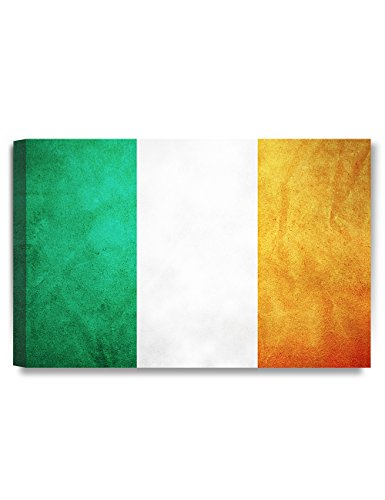 DECORARTS - Flag of Ireland. Giclee Canvas Prints for Home Wall Decor 24x16