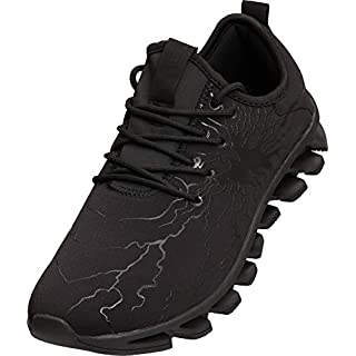 BRONAX All Black Athletic Shoes Men Casual Cool Slip on Light Comfort Fashion Walking Running Training Workout Sneakers for Young Mens Calzados para Hombres Size 10