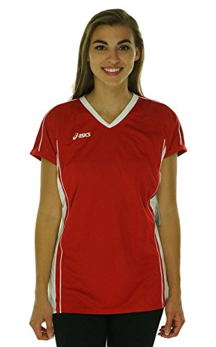 Asics Athletic Jersey - ASICS Women's Replay Jersey, Red/White, X-Large