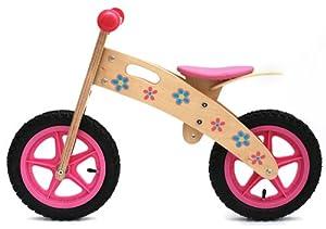 Ooowee Pink Wooden Balance Bike Toys Games