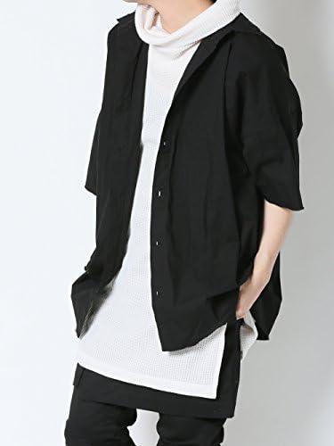 [アズスーパーソニック] シャツ ビッグシルエット ロング丈 コットンシャツ メンズ