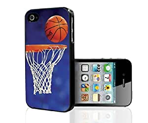 Orange, Blue, and White Basketball Lovers Net, Ball, and Basketball Goal Hard Snap on Phone Case (iPhone 5/5s)