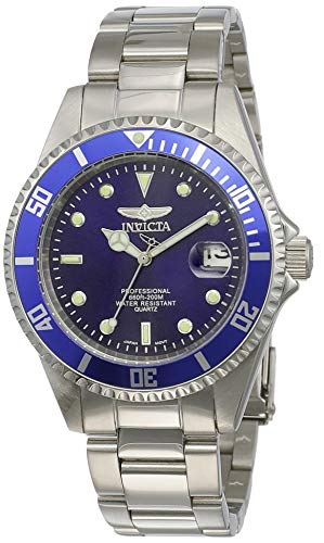 Invicta Men's Pro Diver Quartz Watch with Stainless-Steel Strap, Silver, 9 (Model: 9204OB)