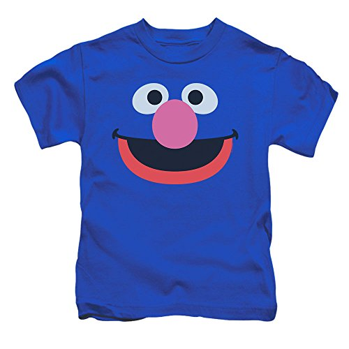 Toddler Sesame Street Grover Face T Shirt, Size 4T Blue